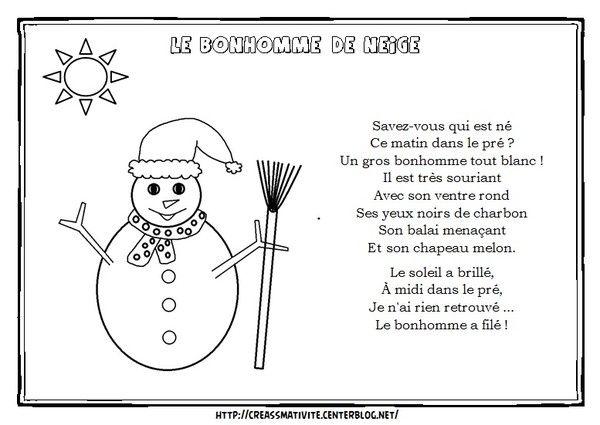 Le bonhomme de neige centerblog - Activite manuelle maternelle hiver ...