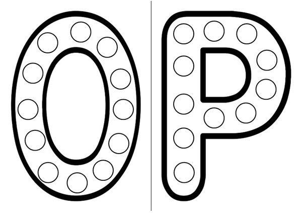 les lettres o et p