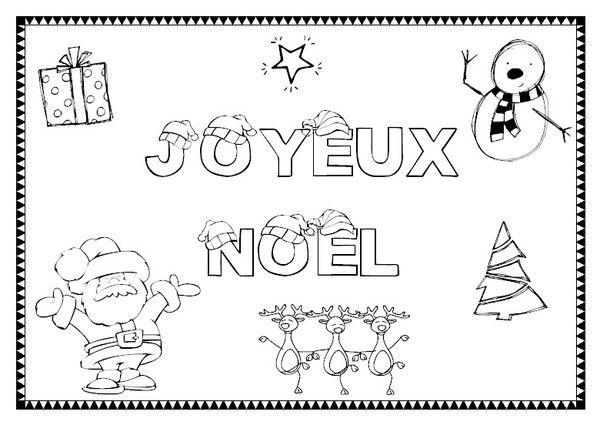 Coloriage joyeux noel coloriage joyeux noel - Coloriage enfant noel ...