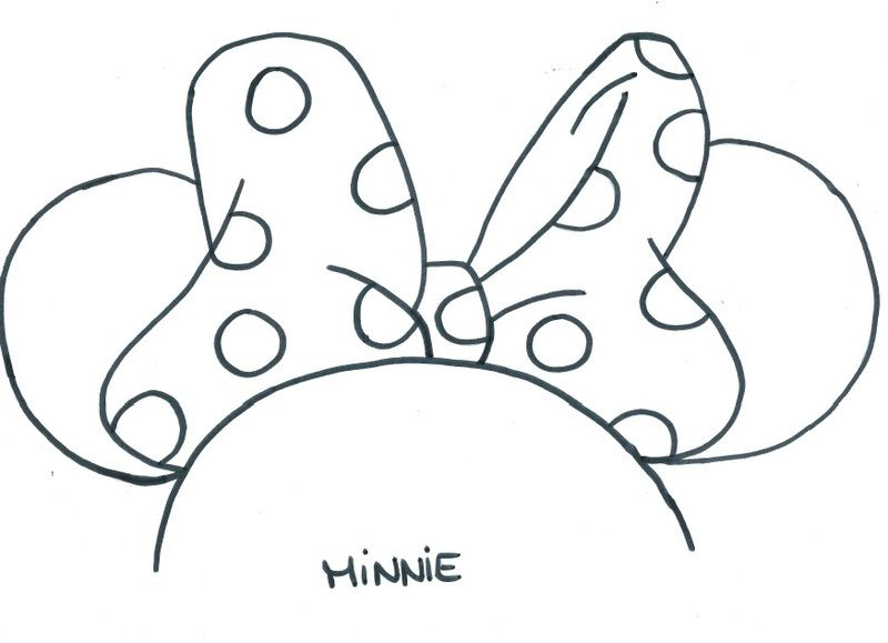 Masque minnie gabarit minnie - Noeud coloriage ...