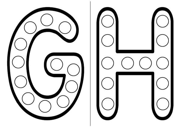 Gommettes alphabet - Grande lettre alphabet a imprimer ...