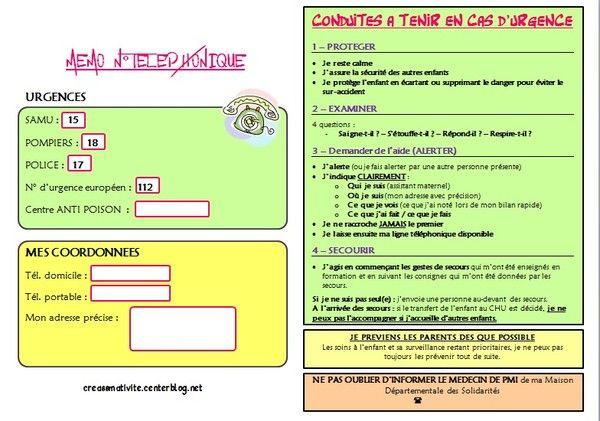 Administratif - Numero telephone ...