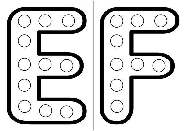 les lettres e et f