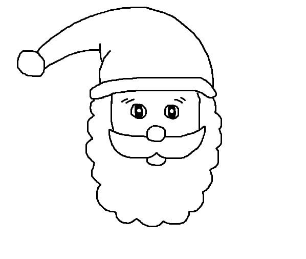 Gabarit t te p re no l - Pere noel facile a dessiner ...