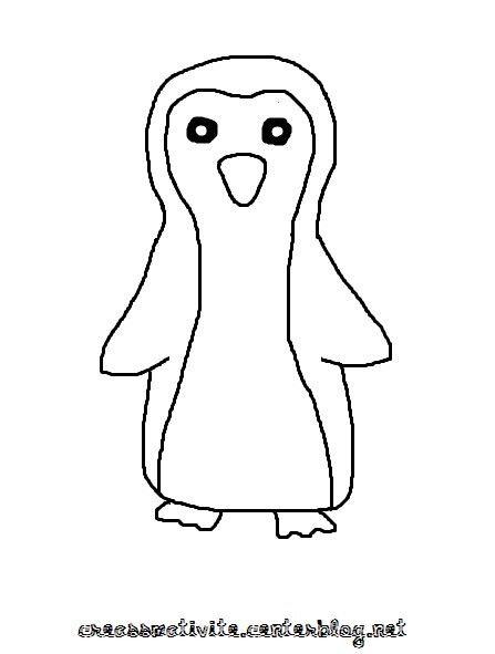 Bricolage hiver page 2 - Coloriage pingoin ...