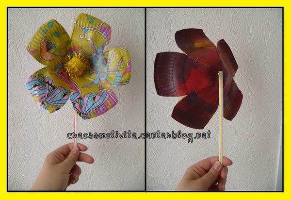 Fleur en assiette centerblog - Bricolage avec des assiettes en carton ...