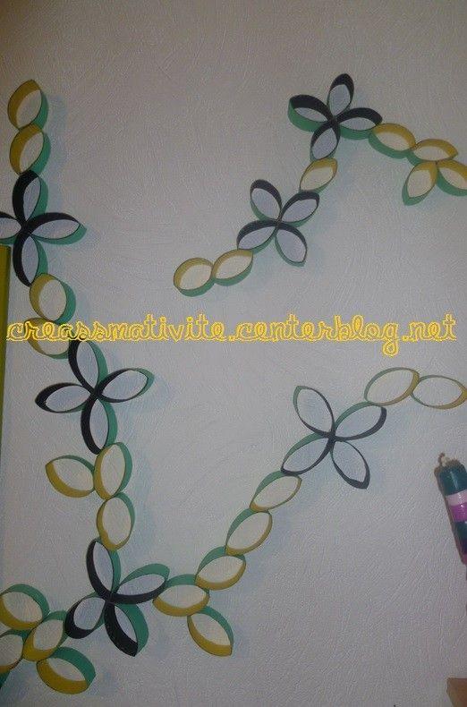 fleurs murales d coratives. Black Bedroom Furniture Sets. Home Design Ideas