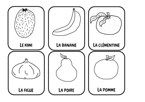 Fruits et legumes - Fruits a colorier et a imprimer ...