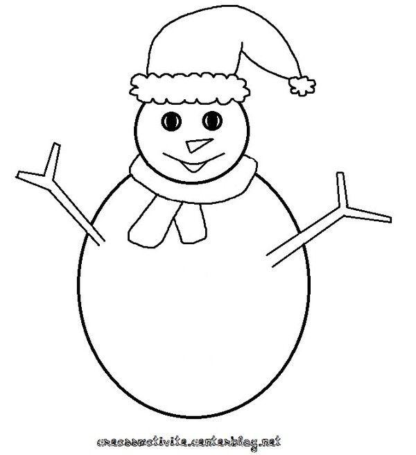 Bricolage noel page 4 - Bonhomme de neige coloriage ...