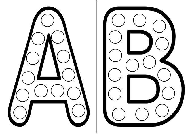 Gommettes alphabet - Alphabet a decouper gratuit ...