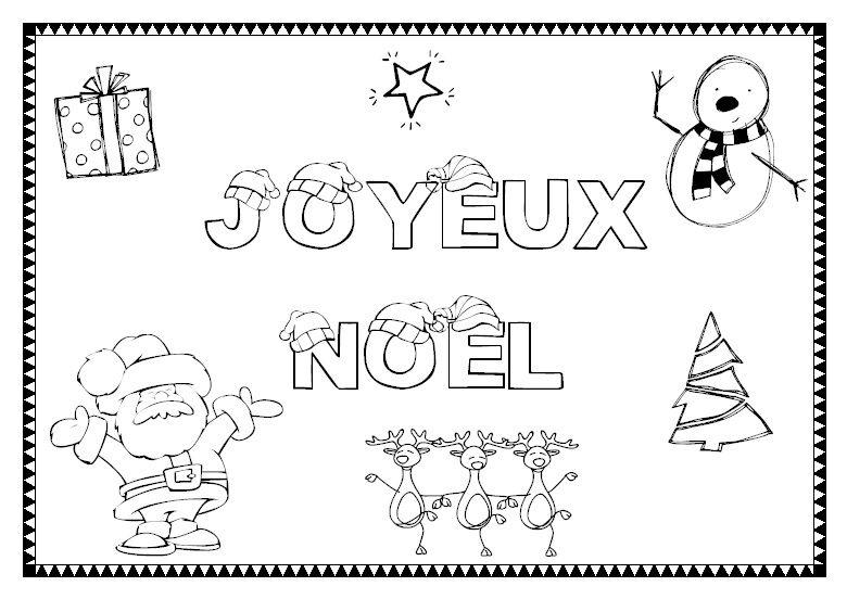 Coloriage joyeux noel - Les dessin de noel ...