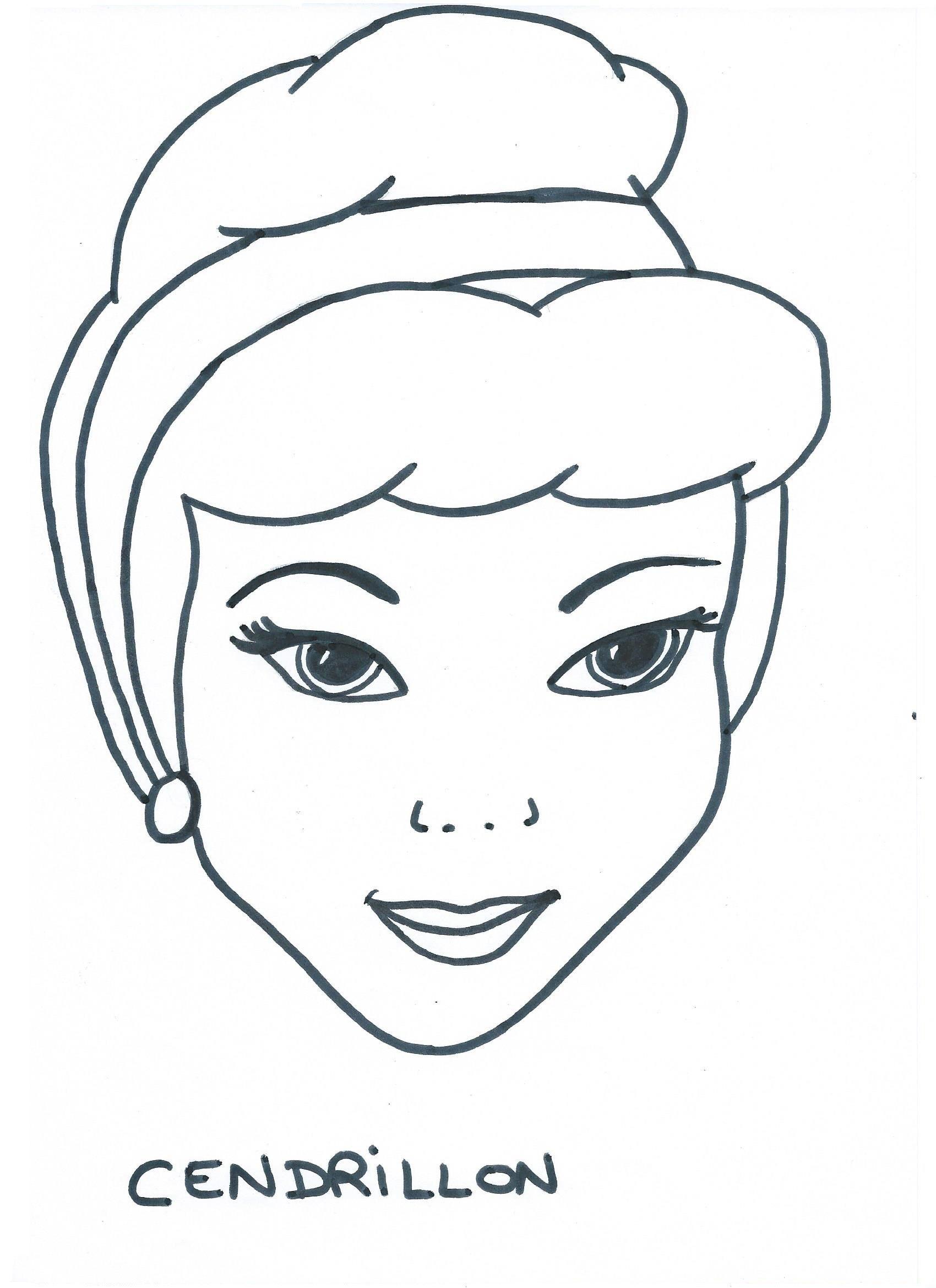 Masque cendrillon - Cendrillon a imprimer ...