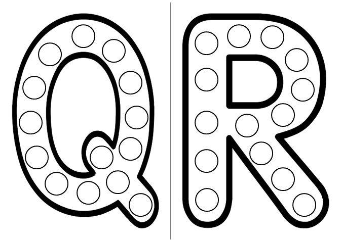 Les lettres q et r - Lettre a decouper ...